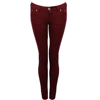 View Item Wine Skinny Jeans